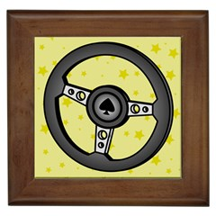 Steering Wheel Framed Tiles
