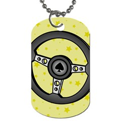 Steering Wheel Dog Tag (One Side)