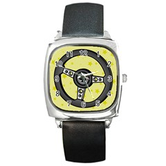 Steering Wheel Square Metal Watch