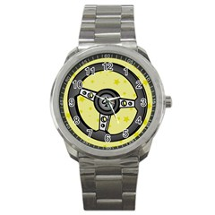 Steering Wheel Sport Metal Watch