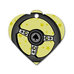 Steering Wheel Dog Tag Heart (Two Sides)