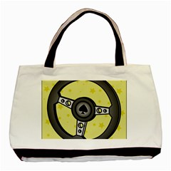 Steering Wheel Basic Tote Bag (Two Sides)