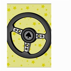 Steering Wheel Small Garden Flag (Two Sides)