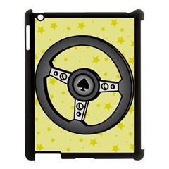 Steering Wheel Apple iPad 3/4 Case (Black)