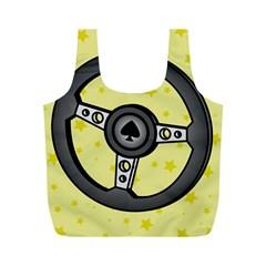 Steering Wheel Full Print Recycle Bags (M)