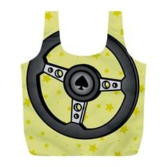 Steering Wheel Full Print Recycle Bags (L)