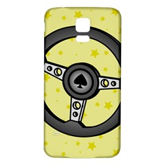 Steering Wheel Samsung Galaxy S5 Back Case (White)