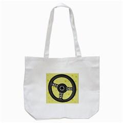 Steering Wheel Tote Bag (White)
