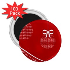 Simple Merry Christmas 2.25  Magnets (100 pack)