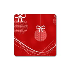 Simple Merry Christmas Square Magnet
