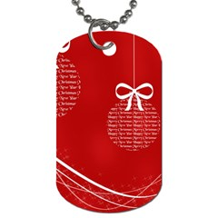 Simple Merry Christmas Dog Tag (Two Sides)