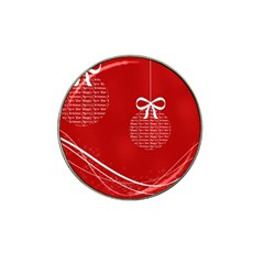 Simple Merry Christmas Hat Clip Ball Marker (4 pack)