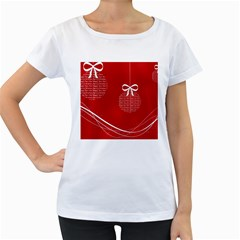 Simple Merry Christmas Women s Loose-Fit T-Shirt (White)
