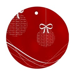 Simple Merry Christmas Round Ornament (Two Sides)