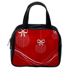Simple Merry Christmas Classic Handbags (One Side)