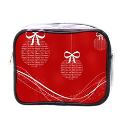 Simple Merry Christmas Mini Toiletries Bags