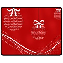 Simple Merry Christmas Fleece Blanket (Medium)