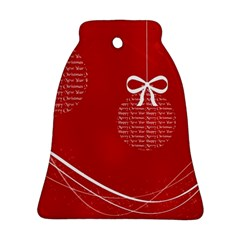 Simple Merry Christmas Bell Ornament (2 Sides)