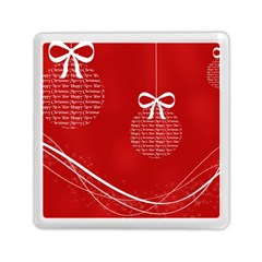 Simple Merry Christmas Memory Card Reader (Square)