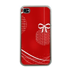 Simple Merry Christmas Apple iPhone 4 Case (Clear)