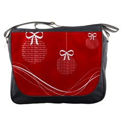 Simple Merry Christmas Messenger Bags