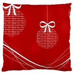 Simple Merry Christmas Large Cushion Case (Two Sides)