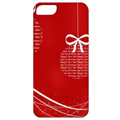Simple Merry Christmas Apple iPhone 5 Classic Hardshell Case
