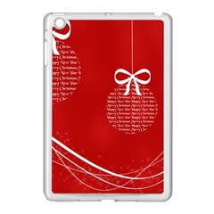 Simple Merry Christmas Apple iPad Mini Case (White)