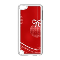 Simple Merry Christmas Apple iPod Touch 5 Case (White)