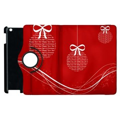 Simple Merry Christmas Apple iPad 3/4 Flip 360 Case