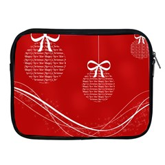 Simple Merry Christmas Apple iPad 2/3/4 Zipper Cases