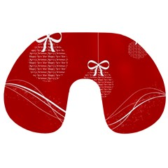 Simple Merry Christmas Travel Neck Pillows