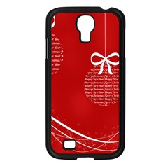 Simple Merry Christmas Samsung Galaxy S4 I9500/ I9505 Case (Black)