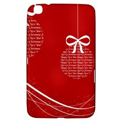 Simple Merry Christmas Samsung Galaxy Tab 3 (8 ) T3100 Hardshell Case