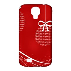 Simple Merry Christmas Samsung Galaxy S4 Classic Hardshell Case (PC+Silicone)