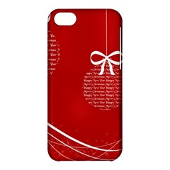 Simple Merry Christmas Apple iPhone 5C Hardshell Case