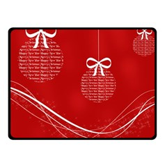 Simple Merry Christmas Double Sided Fleece Blanket (Small)