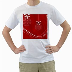 Simple Merry Christmas Men s T-Shirt (White)