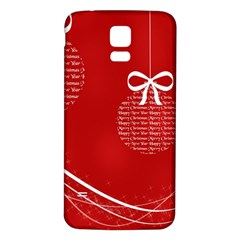 Simple Merry Christmas Samsung Galaxy S5 Back Case (White)