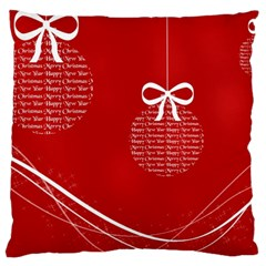 Simple Merry Christmas Large Flano Cushion Case (Two Sides)
