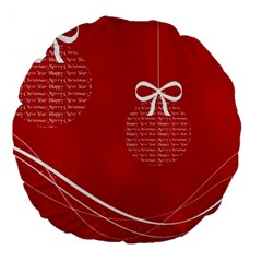 Simple Merry Christmas Large 18  Premium Flano Round Cushions