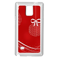 Simple Merry Christmas Samsung Galaxy Note 4 Case (White)