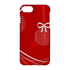 Simple Merry Christmas Apple iPhone 7 Hardshell Case