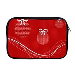 Simple Merry Christmas Apple MacBook Pro 17  Zipper Case