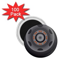 Tire Tyre Car Transport Wheel 1.75  Magnets (100 pack)