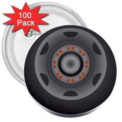 Tire Tyre Car Transport Wheel 3  Buttons (100 pack)