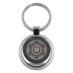 Tire Tyre Car Transport Wheel Key Chains (Round)