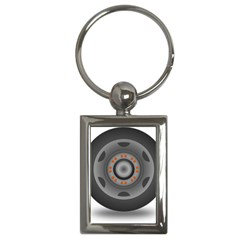 Tire Tyre Car Transport Wheel Key Chains (Rectangle)