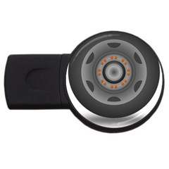 Tire Tyre Car Transport Wheel USB Flash Drive Round (1 GB)