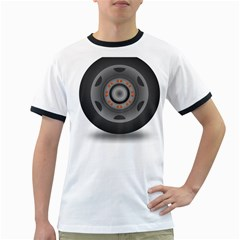 Tire Tyre Car Transport Wheel Ringer T-Shirts